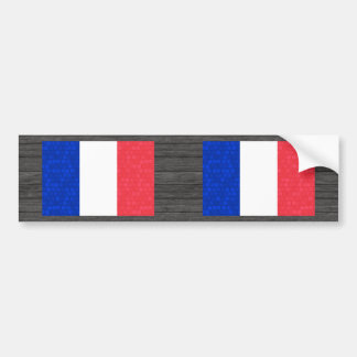 Modern Pattern French Flag Bumper Stickers