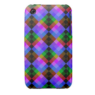 Modern Pattern in Black and Bright Colors iPhone 3 Case-Mate Case