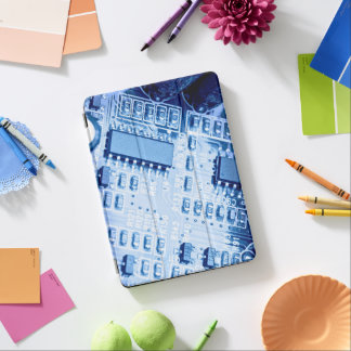 Modern pattern in blue colors iPad air cover