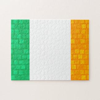 Modern Pattern Irish Flag Jigsaw Puzzles