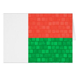 Modern Pattern Malagasy Flag Cards