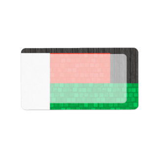 Modern Pattern Malagasy Flag Address Label