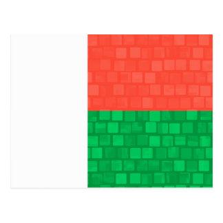 Modern Pattern Malagasy Flag Postcard