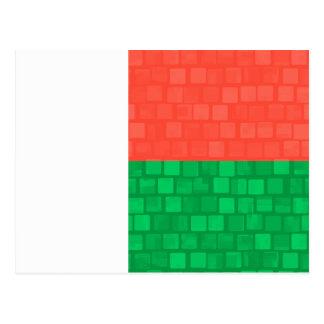 Modern Pattern Malagasy Flag Post Card
