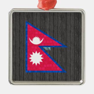 Modern Pattern Nepalese Flag Christmas Tree Ornaments