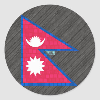Modern Pattern Nepalese Flag Stickers
