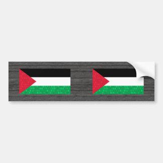 Modern Pattern Palestinian Flag Bumper Sticker