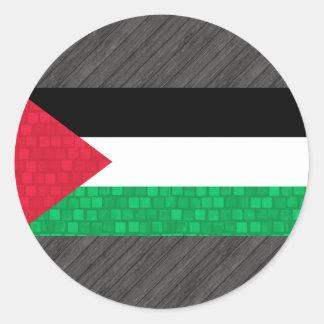 Modern Pattern Palestinian Flag Round Sticker