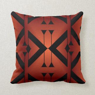 Modern Pattern Pillow-Home -Burnt Orange/Black Cushion