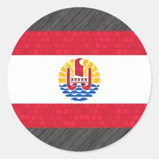 Modern Pattern Polynesian Flag Round Sticker