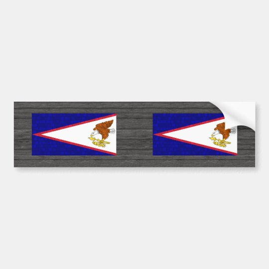 Modern Pattern Samoan Flag Bumper Sticker