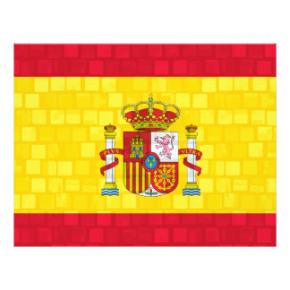Modern Pattern Spanish Flag 21.5 Cm X 28 Cm Flyer