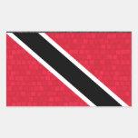 Modern Pattern Trinidadian Flag Rectangle Stickers