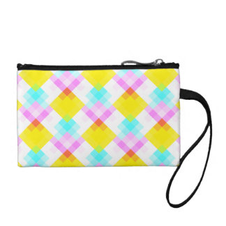 Modern Pattern with Bright Colors and Pastels. Coin Purse