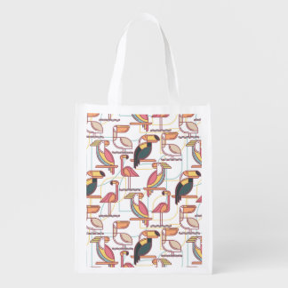 Modern Pattern With Tropical Birds
