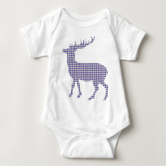 Modern patterned deer baby bodysuit