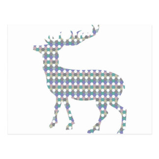 Modern patterned deer postcard