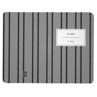 Modern, Patterned Pocket Journal - Black