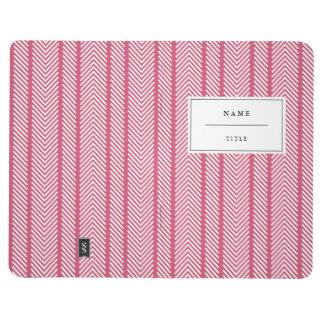 Modern, Patterned Pocket Journal - Bright Pink
