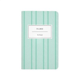 Modern, Patterned Pocket Journal - Mint
