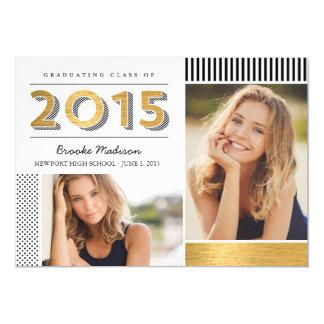Modern Patterns Graduation Announcement/Invitation 13 Cm X 18 Cm Invitation Card