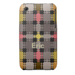 Modern Patterns iPhone 3 case with Name