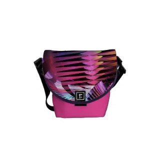 Modern patterns & Monogram Mini zero Messenger bag