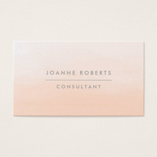 Modern Peach Orange Ombre Beauty or Professional Business Card