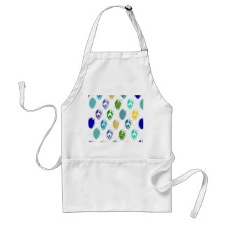 Modern Peacock feathers print art Standard Apron