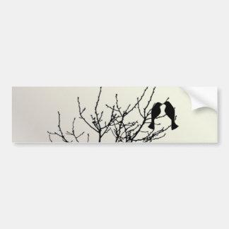 Modern Pearl LoveBirds Tree WeddingFavor Car Bumper Sticker