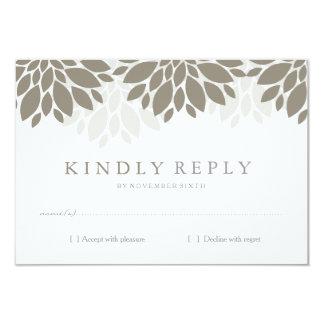 Modern Peonies RSVP | Wedding 9 Cm X 13 Cm Invitation Card