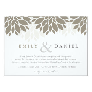 Modern Peonies Wedding Invites | Wedding