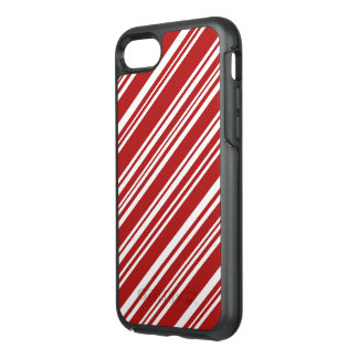 Modern Peppermint Red and White Stripes OtterBox Symmetry iPhone 8/7 Case