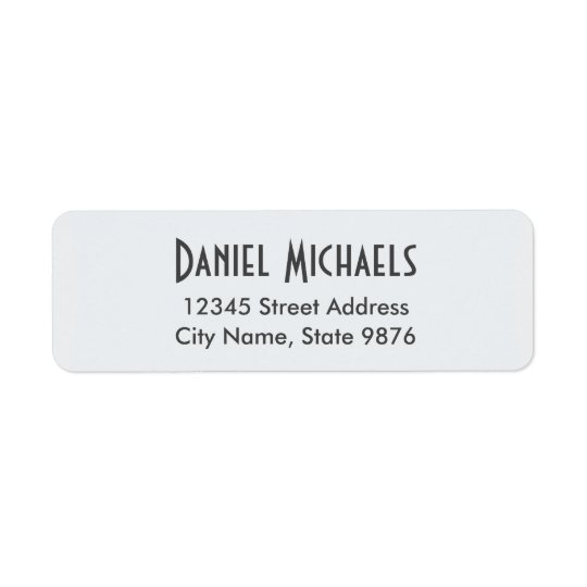 Modern Personal Address Label - Clear Snow White