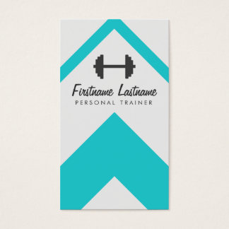 Modern Personal Trainer & Fitness Business Card