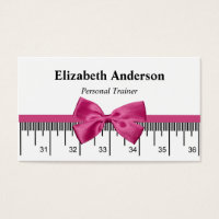 Modern Personal Trainer With Girly Pink Ribbon