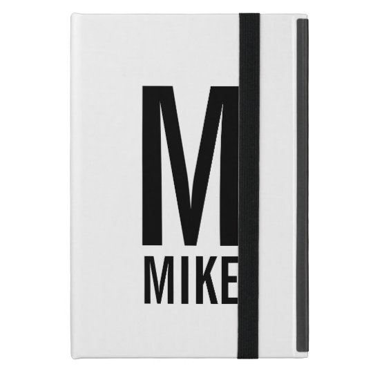 Modern Personalised Monogram and Name Cover For iPad Mini