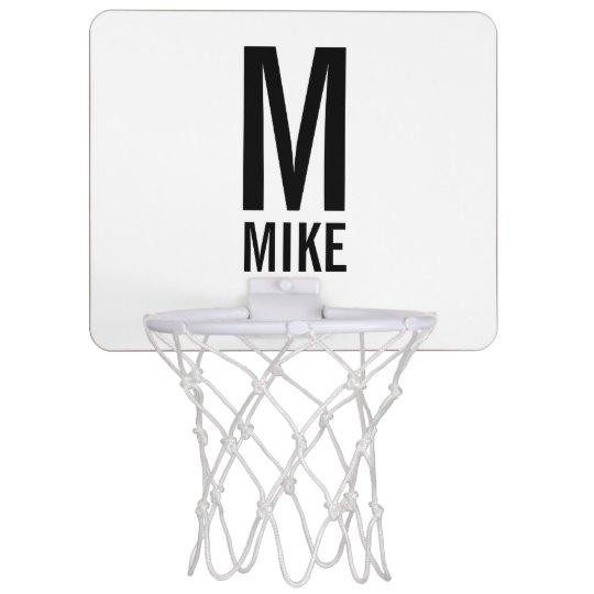 Modern Personalised Monogram and Name Mini Basketball Hoop