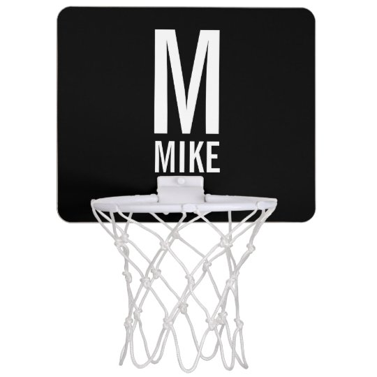 Modern Personalised Monogram and Name Mini Basketball Hoop