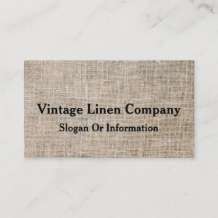 Vintage fabric business cards business card printing zazzle uk modern personalised vintage linen business card reheart Image collections