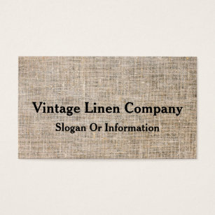 Vintage fabric business cards business card printing zazzle uk modern personalised vintage linen business card reheart Choice Image