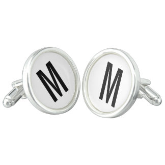 Modern Personalized Monogram and Name Cufflinks