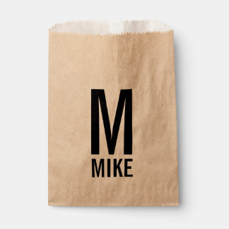 Modern Personalized Monogram and Name Favour Bags