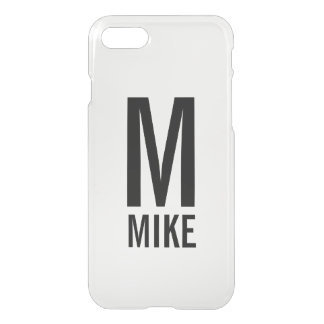 Modern Personalized Monogram and Name iPhone 8/7 Case