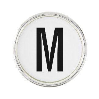 Modern Personalized Monogram and Name Lapel Pin