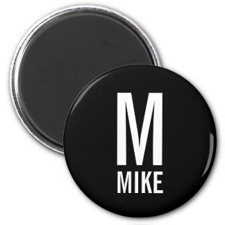 Modern Personalized Monogram and Name Magnet