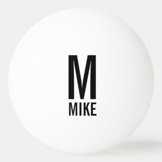 Modern Personalized Monogram and Name Ping Pong Ball