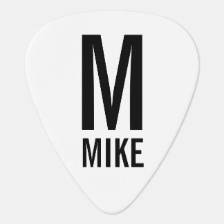 Modern Personalized Monogram and Name Plectrum