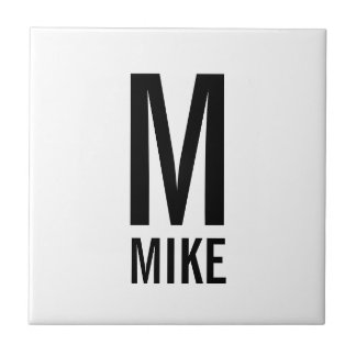 Modern Personalized Monogram and Name Tile