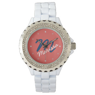 Modern Personalized Monogram Women's Watch